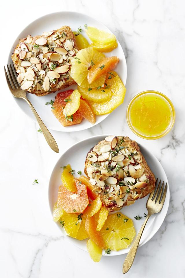 "<p>Your mom's sweet enough. Give her some tangy with this nutty, orange <a rel=""nofollow"" href=""https://www.goodhousekeeping.com/food-recipes/cooking/how-to/g4643/how-to-make-french-toast/"">French toast</a>. </p><p><em><a rel=""nofollow"" href=""https://www.goodhousekeeping.com/food-recipes/a46689/twice-baked-citrus-almond-brioche/"">Get the recipe for Twice-Baked Citrus-Almond Brioche »</a></em></p>"