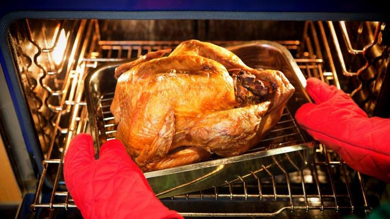Yes, you need a roasting pan—this one from Viking is useful beyond Thanksgiving.