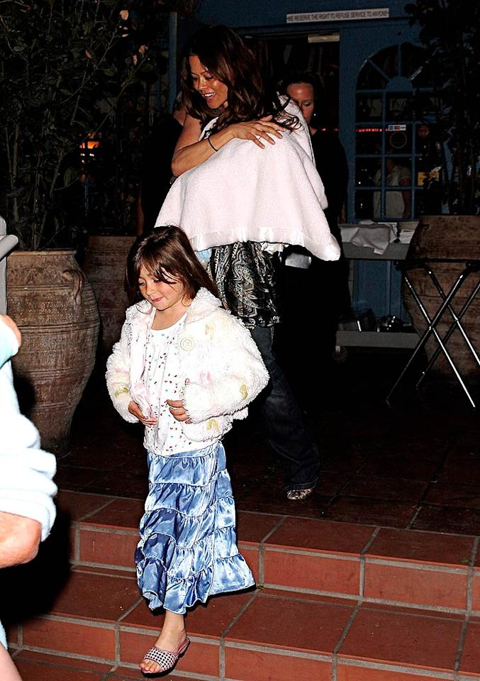 "Brooke Burke and her family take their newest addition, a baby boy named Shaya, out for dinner in Malibu. AlphaX/<a href=""http://www.x17online.com"" target=""new"">X17 Online</a> - March 14, 2008"