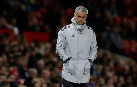 FILE PHOTO: Soccer Football - Carabao Cup Third Round - Manchester United vs Burton Albion - Old Trafford, Manchester, Britain - September 20, 2017   Manchester United manager Jose Mourinho .REUTERS/Andrew Yates