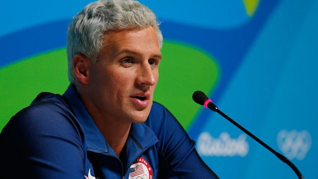 Nearly a year after the Rio Games, Ryan Lochte made a public appearance amid a groundswell of support. (Getty)