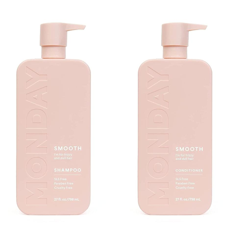 <p>If you are prone to having frizzy hair or hair that just refuses to listen to you, the <span>Monday Haircare Smooth Shampoo + Conditioner Twin Pack </span> ($32) has got your back. It contains hair nourishing ingredients like contains nourishing coconut oil, vitamin E, and shea butter. The bundle has a rich and creamy consistency and both bottles are recyclable.</p>