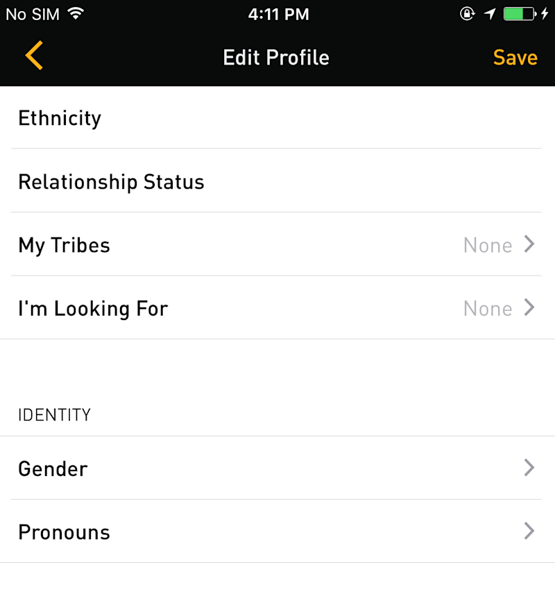 "Grindr users now have their choice of pronouns, with ""He/Him/His,"" ""She/Her/Hers"" and ""They/Them/Theirs"" now available."