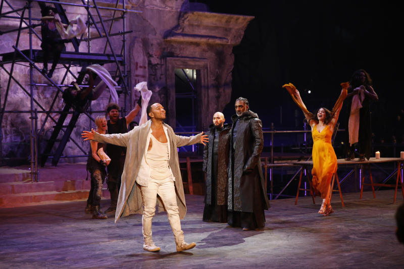 "Lewis (third from right) starred in ""Jesus Christ Superstar Live!"" with John Legend in April.  (NBC via Getty Images)"