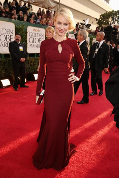 """<div class=""""caption-credit""""> Photo by: Getty Images</div><div class=""""caption-title""""></div><b>BEST: Naomi Watts</b> <br> We've been loving oxblood clothing, so why not a gown in the striking shade? This Zac Posen makes a case for long sleeves on the red carpet, while the open back reveals the right amount of skin. <br>"""