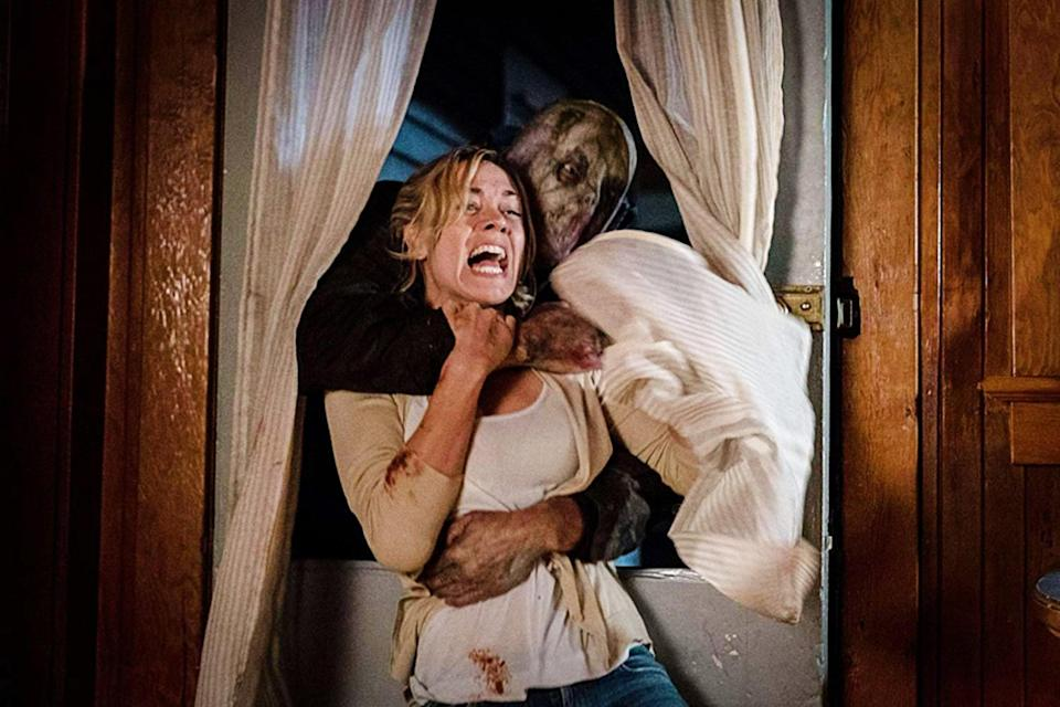 """<p>The 2018 horror film tells the story of a mother and her two daughters who are vacationing at a lake house when things suddenly take a turn for the worst. While playing outside, her daughters fall victim to a trick of an ax-wielding psychopath that sucks them into a living nightmare.</p> <p><a href=""""https://www.amazon.com/Hes-Out-There-Yvonne-Strahovski/dp/B07GRFWNKQ/ref=sr_1_1?dchild=1&amp;keywords=He%27s+Out+There&amp;qid=1597680531&amp;s=instant-video&amp;sr=1-1"""" class=""""link rapid-noclick-resp"""" rel=""""nofollow noopener"""" target=""""_blank"""" data-ylk=""""slk:Watch He's Out There on Amazon Prime now"""">Watch <b>He's Out There</b> on Amazon Prime now</a>.</p>"""