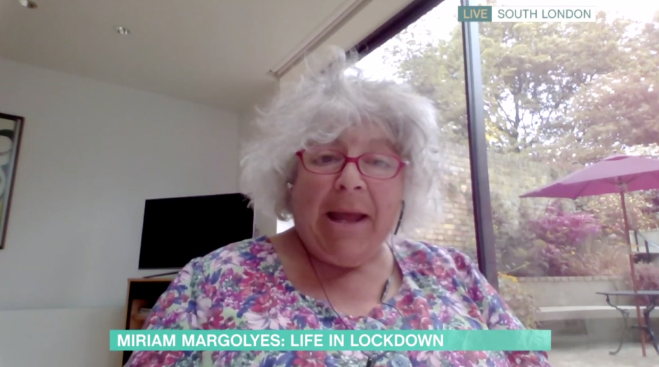 Mirian Margolyes on This Morning, ITV