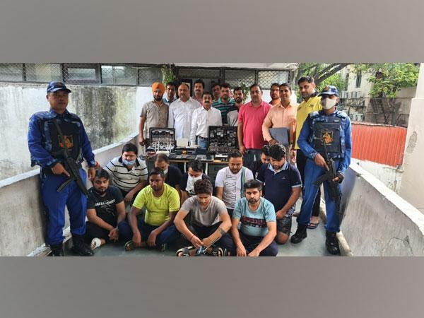 Accused persons in interstate cricket betting with Delhi Police personnel.