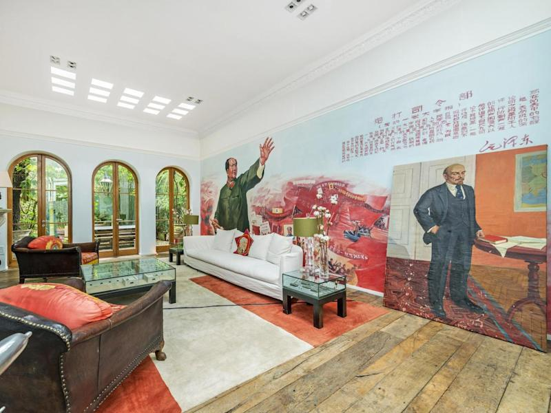 Chairman Mao and Lenin appear repeatedly throughout the home (Kinleigh, Folkard & Hayward)