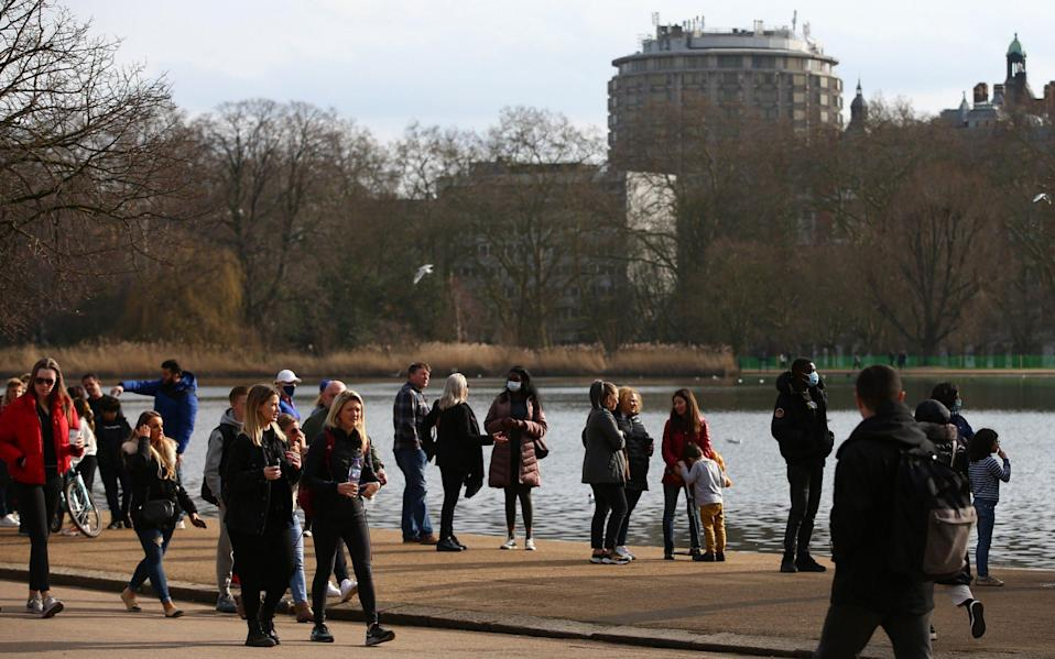 People could be free to meet up in the park next week - Hollie Adams/Getty Images