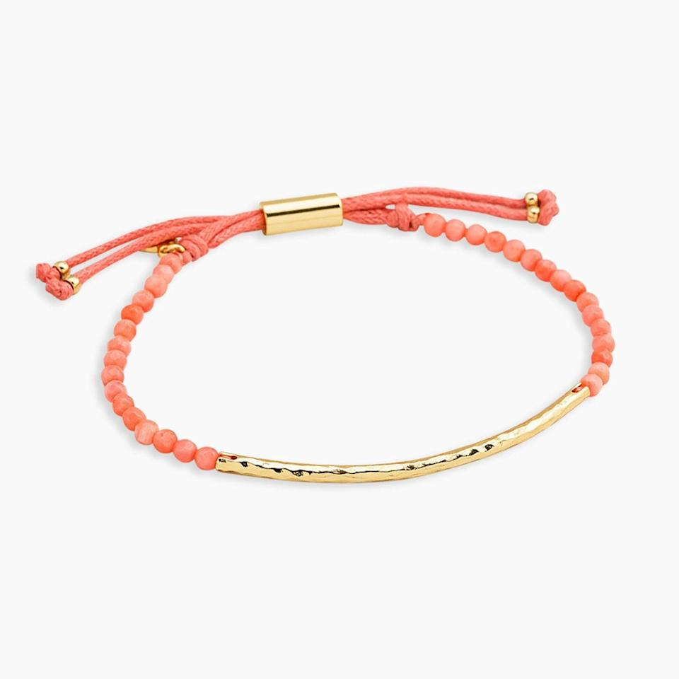<p>Add a fun little accessory to your wrist with this <span>Gorjana Coral Power Gemstone Bracelet For Harmony</span> ($38).</p>