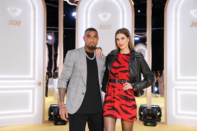 VERONA, ITALY - OCTOBER 08: Kevin-Prince Boateng and Melissa Satta attend the Calzedonia Leg Show 2019 on October 08, 2019 in Verona, Italy. (Photo by Daniele Venturelli/Daniele Venturelli/Getty Images )