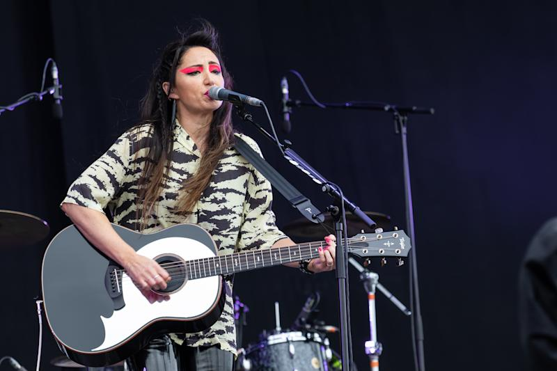 NEWPORT, ISLE OF WIGHT - JUNE 15: KT Tunstall performs on main stage during Isle of Wight Festival 2019 at Seaclose Park on June 15, 2019 in Newport, Isle of Wight. (Photo by Carla Speight/Redferns)