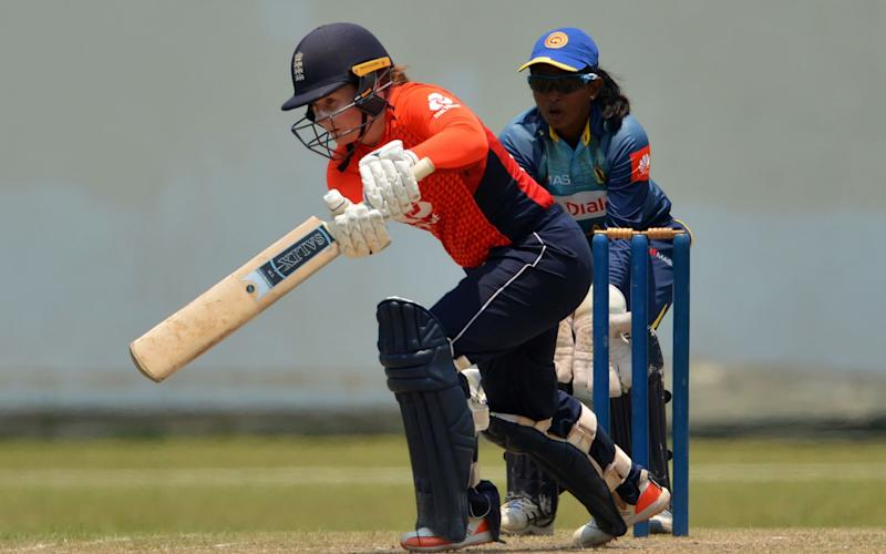 Tammy Beaumont helped steer England over the line against Sri Lanka - AFP