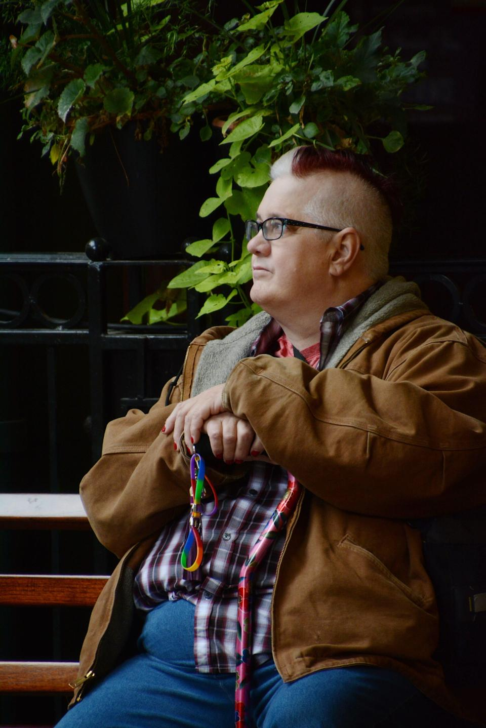 Intersex and non-binary activist Dana Zzyym, 61, sued the State Department for a gender-neutral designation on a passport. The case is currently in the U.S. Court of Appeals for the Tenth Circuit.