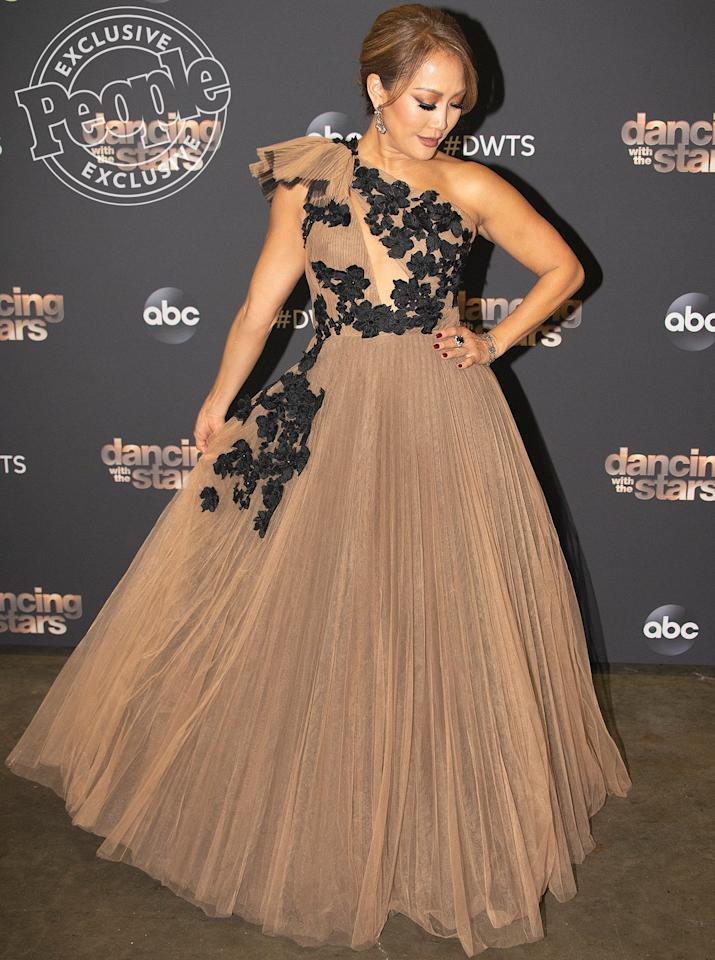 "For the <em>Dancing with the Stars</em> season 28 finale, Carrie Ann's glam squad wanted to create a look that was quintessentially her: ""This <a href=""https://www.noonbynoor.com"">Noon by Noor</a> gown did exactly that,"" stylist <a href=""https://www.instagram.com/rhondaspiesstylist/?hl=en"">Rhonda Spies</a> tells PEOPLE. ""With a little romance, a little tulle, and a whole lotta Neil Lane, Carrie Ann closed out the season in Mirrorball style!"""