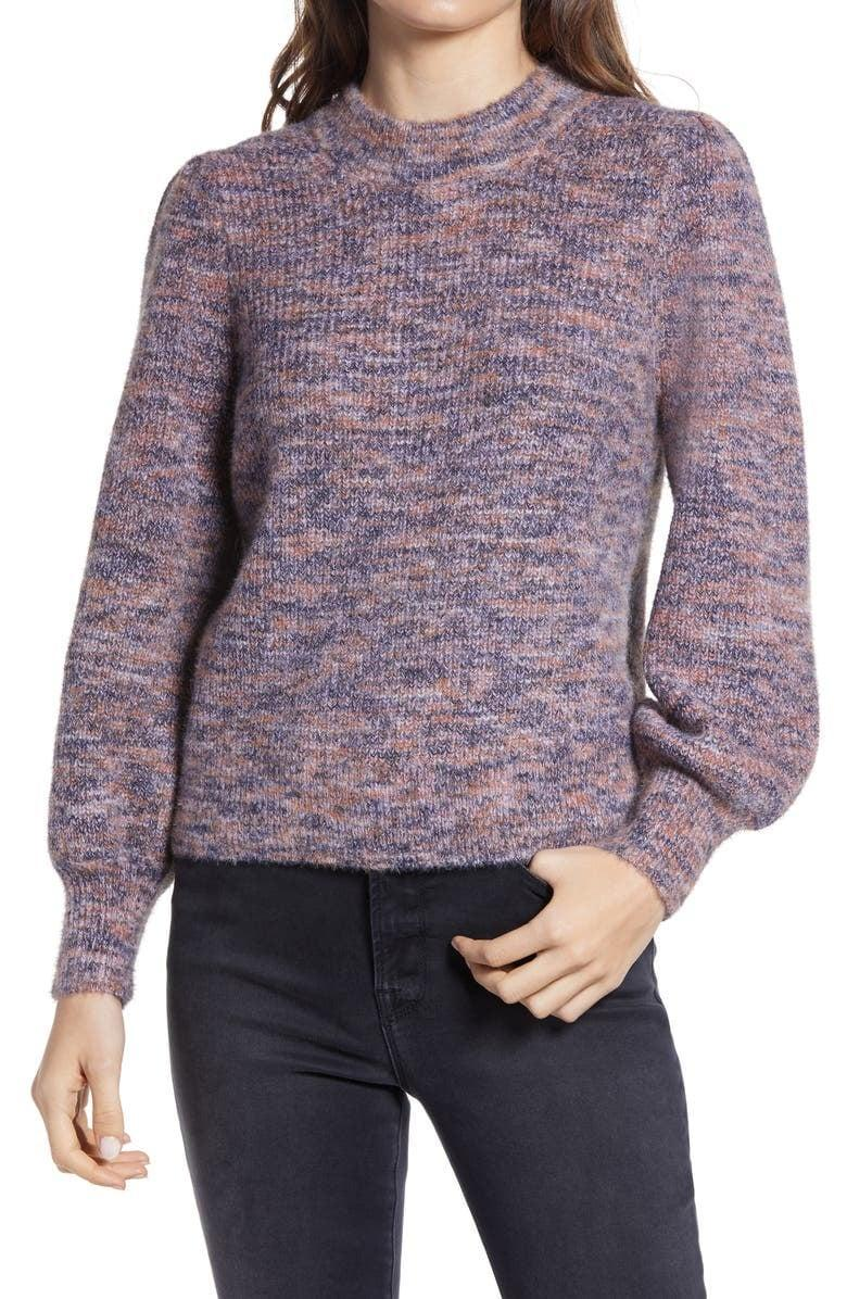 <p><span>Madewell Eaton Space Dye Puff Sleeve Sweater</span> ($40, originally $75)</p>