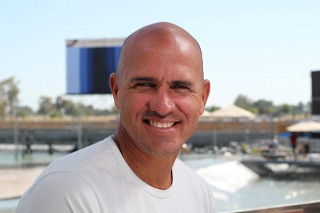 FILE PHOTO: Surfer Kelly Slater at World Surf League Surf Ranch in Lemoore