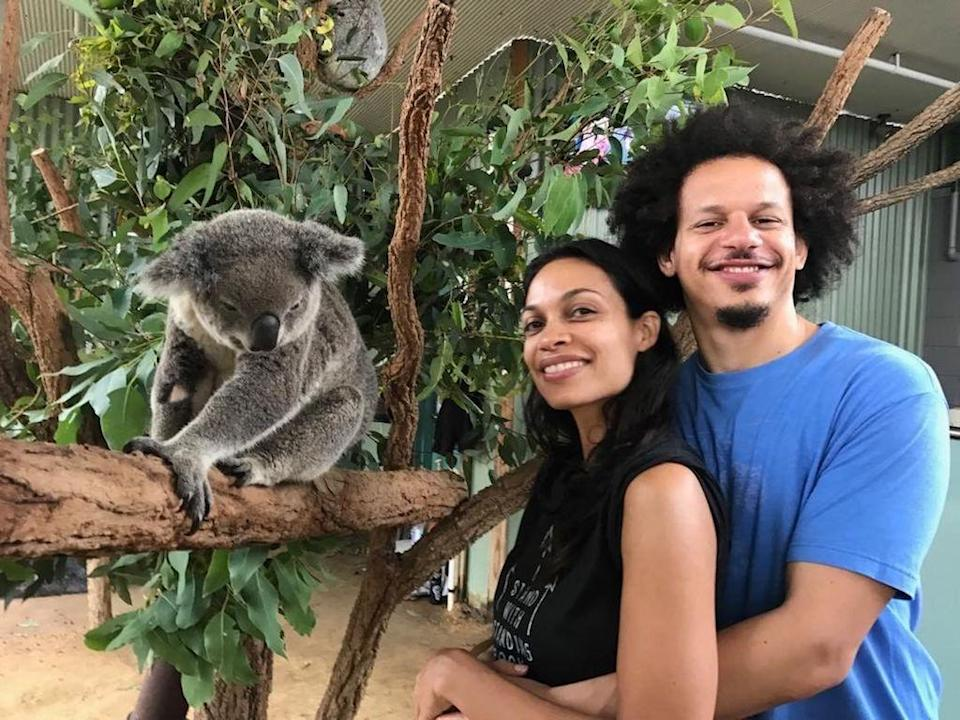 """<p>The <i>Jessica Jones</i> actress has been linked to comedian Eric Andre since last year, but she finally declared her love for him on V-Day. """"Happy Valentines Day my love! #MyCuddlyValentine #Valentines,"""" she wrote with a photo of them posing next to a cute koala. (Photo: <a rel=""""nofollow noopener"""" href=""""https://www.instagram.com/p/BQgIZoIDJ38/?hl=en"""" target=""""_blank"""" data-ylk=""""slk:Instagram"""" class=""""link rapid-noclick-resp"""">Instagram</a>)(Photo: Instagram) </p>"""