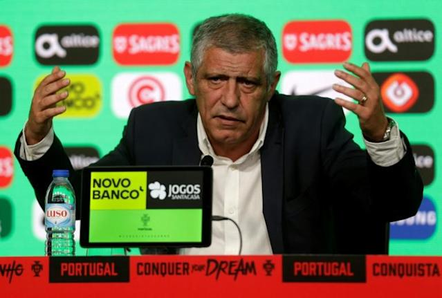 All in hand: Portugal coach Fernando Santos announces his World Cup squad on Thursday