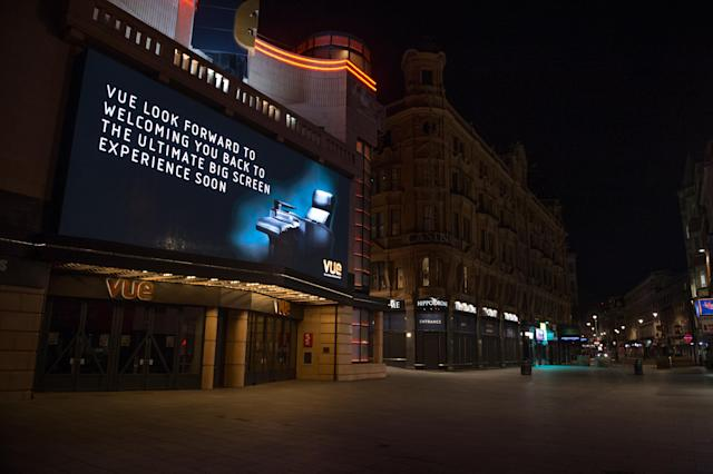 UK cinemas have been closed since March as part of the nationwide coronavirus lockdown. (Ollie Millington/Getty Images)