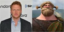 <p>The <em>Grey's Anatomy</em> hottie let out his Scottish accent in both a moderate and super heavy capacity as Lord MacGuffin <em>and</em> his son Young MacGuffin–who pretty much no one can understand–in the 2012 film <em>Brave</em>.</p>