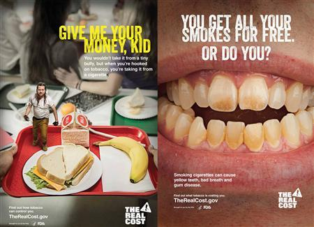 Anti-smoking posters being issued by the FDA