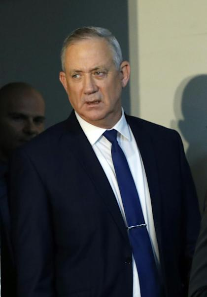 Retired Israeli army general Benny Gantz leads the centrist Blue and White alliance (AFP Photo/Jack GUEZ)