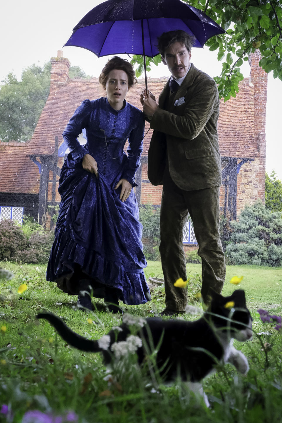Claire Foy and Benedict Cumberbatch in Louis Wain (Studiocanal/PA)