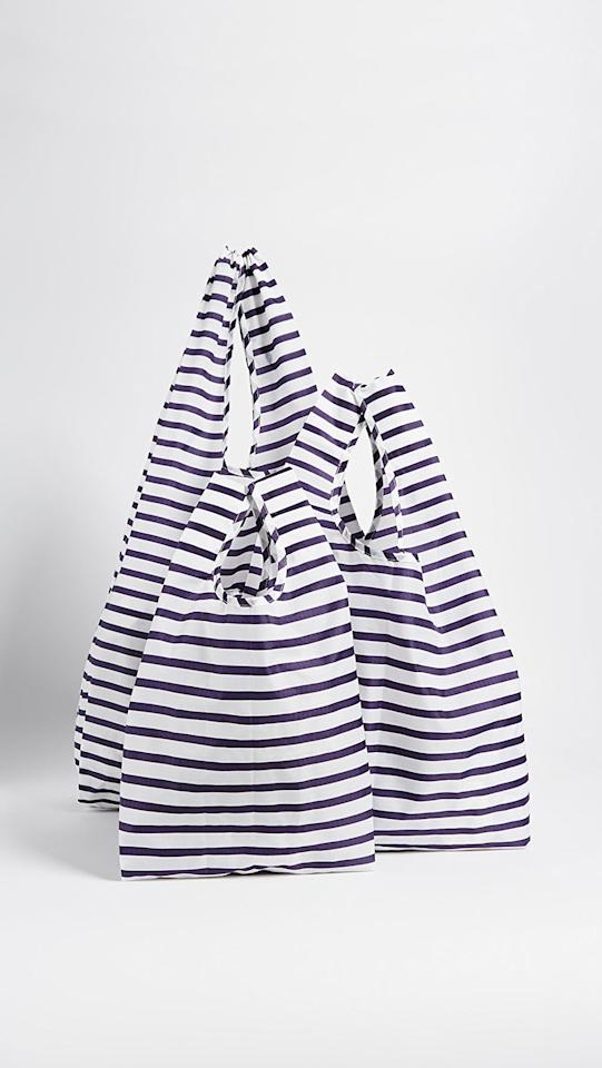 """<p>The <a href=""""https://www.popsugar.com/buy/Baggu-Standard-Triple-Set-548241?p_name=Baggu%20Standard%20Triple%20Set&retailer=shopbop.com&pid=548241&price=38&evar1=savvy%3Aus&evar9=47208848&evar98=https%3A%2F%2Fwww.popsugar.com%2Fphoto-gallery%2F47208848%2Fimage%2F47208855%2FBaggu-Standard-Triple-Set&list1=shopping%2Ceco-friendly%2Csustainability&prop13=api&pdata=1"""" rel=""""nofollow"""" data-shoppable-link=""""1"""" target=""""_blank"""" class=""""ga-track"""" data-ga-category=""""Related"""" data-ga-label=""""https://www.shopbop.com/baggu-baby-big-set/vp/v=1/1520122093.htm?folderID=30825&amp;fm=other-viewall&amp;os=false&amp;colorId=46141&amp;ref=SB_PLP_NB_9"""" data-ga-action=""""In-Line Links"""">Baggu Standard Triple Set</a> ($38) comes with three different sizes, which is so convenient.</p>"""