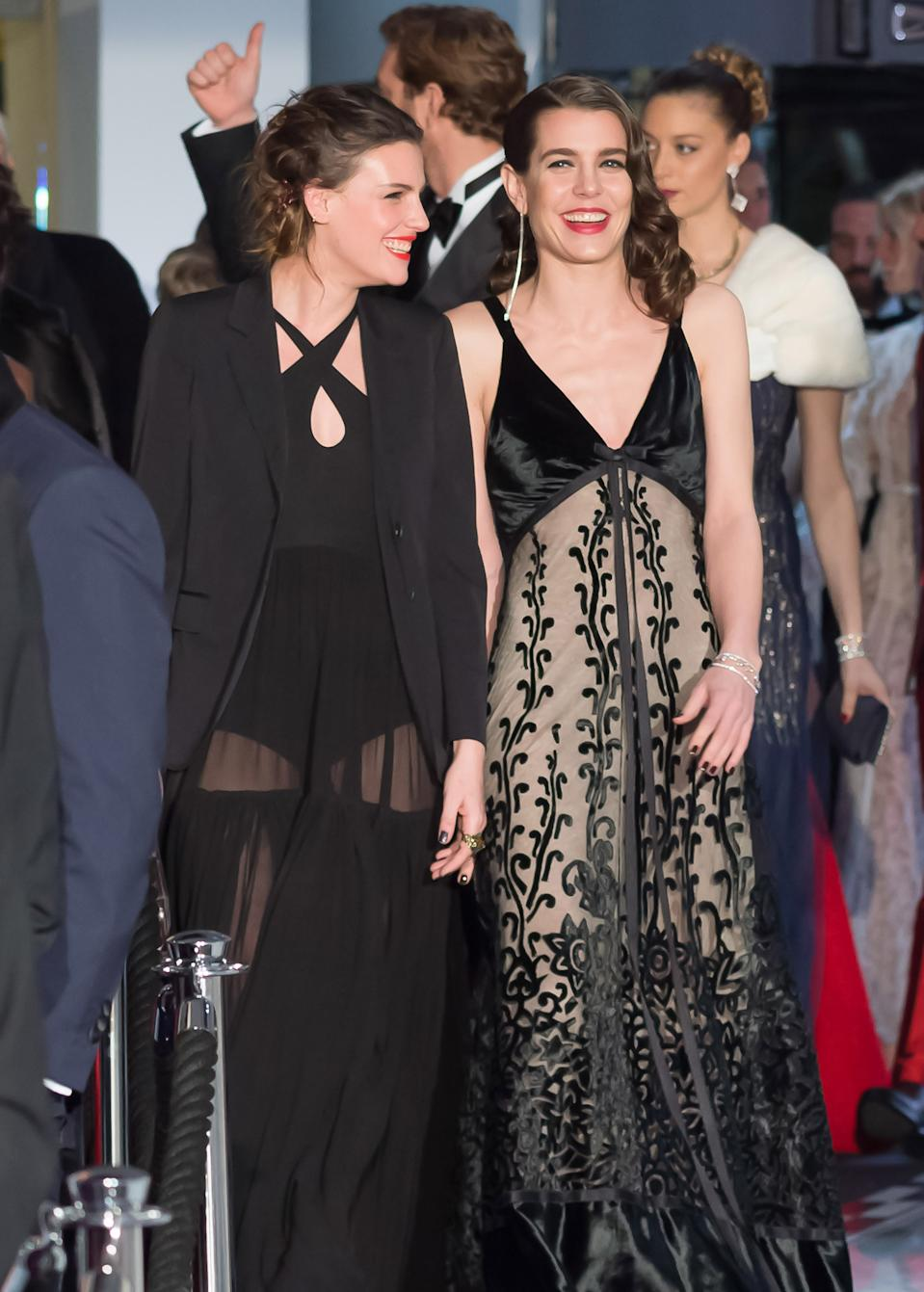 MONTE-CARLO, MONACO - MARCH 18:  (EDITORS NOTE: NO TABLOIDS)  - Juliette Maillot and Charlotte Casiraghi attend the Rose Ball 2017 Secession Viennoise To Benefit The Princess Grace Foundation at Sporting Monte-Carlo on March 18, 2017 in Monte-Carlo, Monaco. (Photo by Pierre Villard/Palais Princier/SBM/SC Pool - Corbis/Corbis via Getty Images)