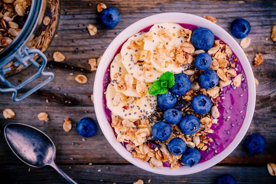 """<p>A serving or two of this anthocyanin-rich berry can dramatically boost the amount of antioxidants in your blood, according to researchers at <a href=""""https://www.sciencedaily.com/releases/2008/10/081006112053.htm"""" rel=""""nofollow noopener"""" target=""""_blank"""" data-ylk=""""slk:Texas A&M University"""" class=""""link rapid-noclick-resp"""">Texas A&M University</a>.</p><p><strong>Recipe to try:</strong> <a href=""""https://www.womansday.com/food-recipes/food-drinks/g1632/smoothies-for-weight-loss/?slide=7"""" rel=""""nofollow noopener"""" target=""""_blank"""" data-ylk=""""slk:20 Delicious Smoothies for Weight Loss"""" class=""""link rapid-noclick-resp"""">20 Delicious Smoothies for Weight Loss</a></p>"""