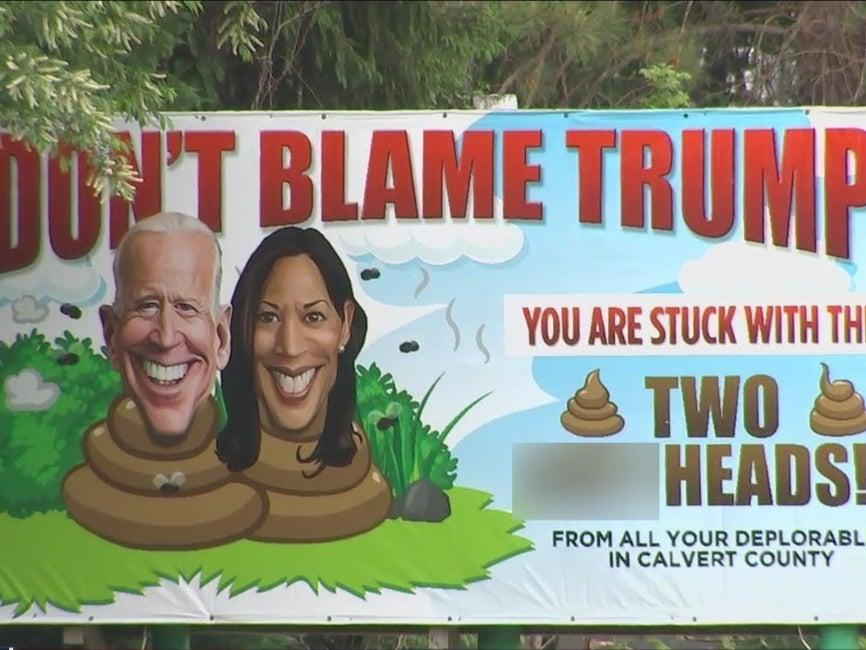 The county government has said they don't have the power to take the controversial billboard down.  (Fox 5 DC)