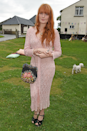 <p>Florence Welch opted for a pastel mesh midi for the country wedding of Greta Bellamacina and Robert Montgomery.</p>