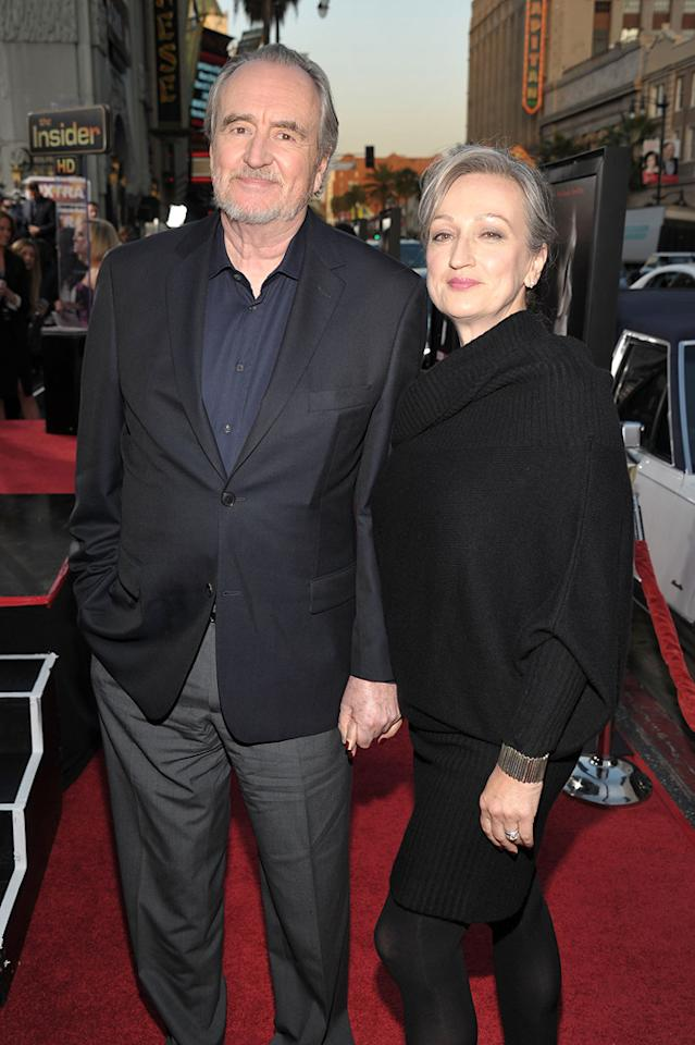 "Horror master and ""Scream"" director <a href=""http://movies.yahoo.com/movie/contributor/1800023581"">Wes Craven</a> arrived hand-in-hand with his wife of 7 years, Iya Labunka."