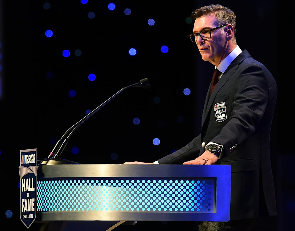 Ray Evernham at his 2017 NASCAR Hall of Fame induction. (Photo by Jared C. Tilton/Getty Images)