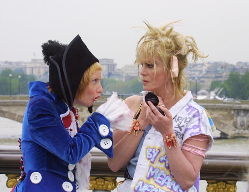 Jane Horrocks and Jennifer Saunders in Absolutely Fabulous, 2001 (Rex Features)