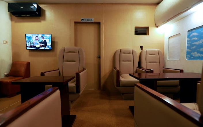 A view from the business class section - Reuters