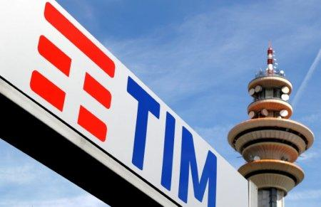 FILE PHOTO: FILE PHOTO: Telecom Italia logo is seen at the headquarters in Milan, Italy, May 25, 2016. REUTERS/Stefano Rellandini/File Photo/File Photo