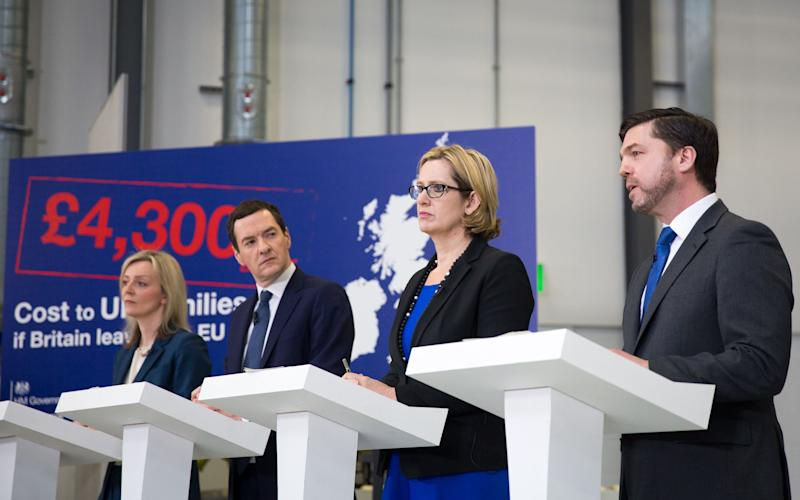 Osborne's claim that Brexit could cost each British household £4,300 faced heavy criticism - Credit: Matt Cardy/PA