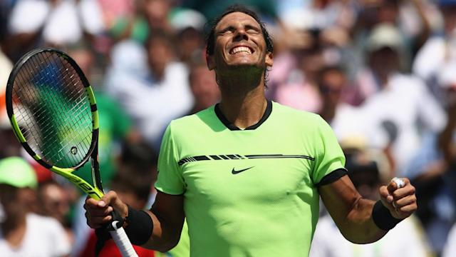 Roger Federer or Nick Kyrgios awaits Rafael Nadal in the Miami Open final, the fifth of the Spaniard's career.