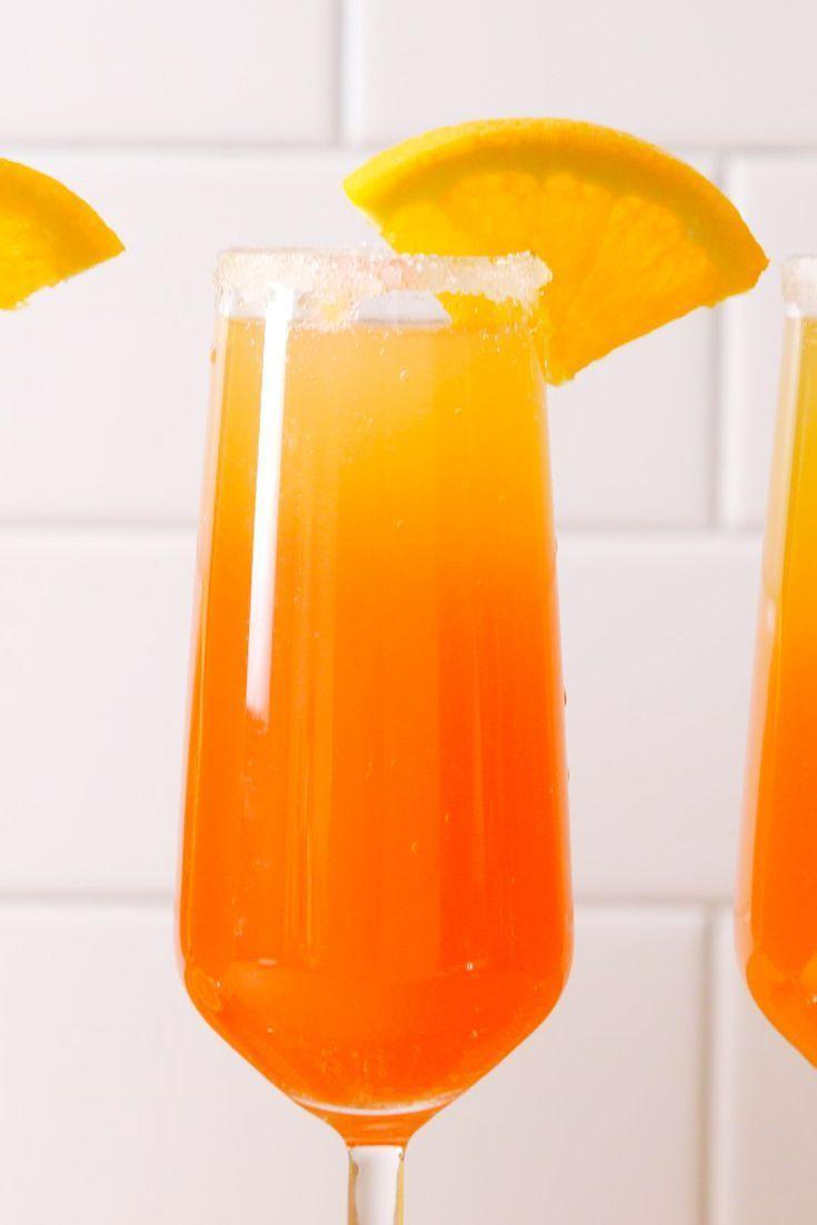 "<p>Sunrise and shine!</p><p>Get the <a href=""https://www.delish.com/uk/cocktails-drinks/a32360370/tequila-sunrise-mimosas-recipe/"" rel=""nofollow noopener"" target=""_blank"" data-ylk=""slk:Tequila Sunrise Mimosas"" class=""link rapid-noclick-resp"">Tequila Sunrise Mimosas</a> recipe. </p>"