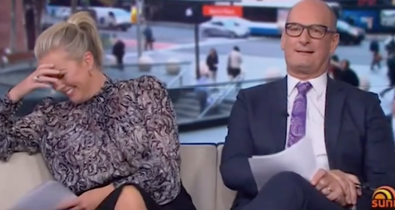 Kochie's co-host Samantha Armytage was absolutely shocked after he admitted on the Channel Seven show Sunrise that he pees in the pool