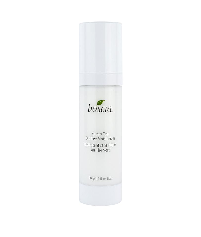 """<p>Suffering from oiliness, breakouts and blemishes? Look no further than this lightweight oil-free solution from Boscia, which filled with antioxidants (including green tea) to battle redness and protect from free radical damange. <strong>Buy It! </strong>Boscia Green Tea Oil-Free Moisturizer, $38; <a rel=""""nofollow"""" href=""""https://click.linksynergy.com/fs-bin/click?id=93xLBvPhAeE&subid=0&offerid=429865.1&type=10&tmpid=10002&RD_PARM1=http%253A%252F%252Fwww.sephora.com%252Fgreen-tea-oil-free-moisturizer-P417305&u1=POBEAUgreenteabeautyKFAPR"""">sephora.com</a></p>"""