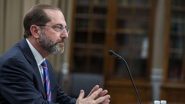 PHOTO: Secretary of Health and Human Services Alex Azar testifies before the House Appropriations Committee, Feb.26, 2020, in Washington, D.C. (Tasos Katopodis/Getty Images)