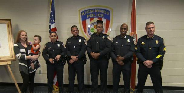 PHOTO: In body cam footage captured by the Kissimmee Police Department, officers successfully resusciatated 18-month-old M.J. who choked on a cracker. (ABC)