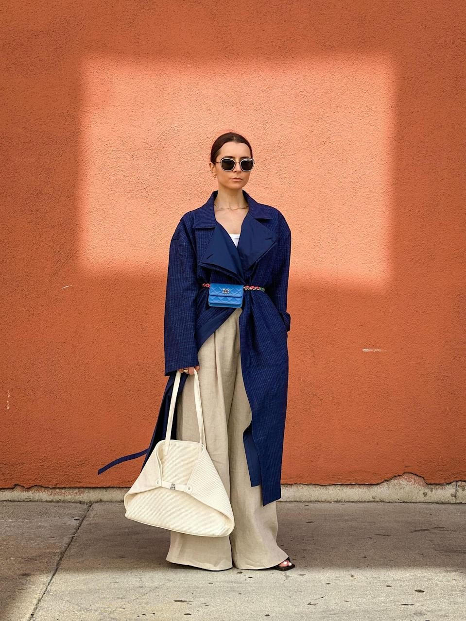 <p>This bag combo is so chic. </p>