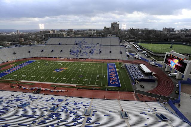Kansas to remove track from around football field at Memorial Stadium