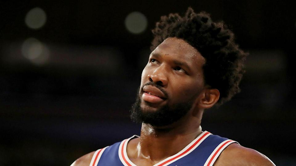 Embiid reportedly was back at the team hotel and would not participate in Monday's shootaround.