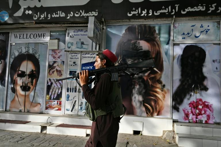Taliban fighters took control of the city on Sunday after a lightning offensive that saw the former government's provincial strongholds around Afghanistan topple like dominoes in a matter of days